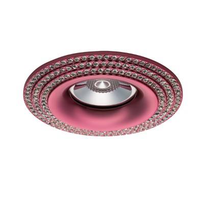 Светильник Lightstar 011978R MOBILEDКруглые<br><br><br>Тип лампы: галогенная/LED<br>Тип цоколя: GU5.3/GU10<br>Цвет арматуры: розовый<br>Количество ламп: 1<br>Диаметр, мм мм: 95<br>Глубина, мм: 25