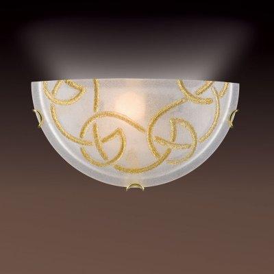 Светильник бра Сонекс 012 зол/стекло с эффектом кристалл BRENA GOLDСовременные<br><br><br>S освещ. до, м2: 6<br>Тип лампы: накаливания / энергосбережения / LED-светодиодная<br>Тип цоколя: E27<br>Количество ламп: 1<br>Ширина, мм: 300<br>MAX мощность ламп, Вт: 100<br>Цвет арматуры: золотой
