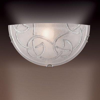 Светильник бра Сонекс 013 хром/стекло с эффектом кристалл BRENA SILVERНакладные<br><br><br>S освещ. до, м2: 6<br>Тип лампы: накаливания / энергосбережения / LED-светодиодная<br>Тип цоколя: E27<br>Количество ламп: 1<br>Ширина, мм: 300<br>MAX мощность ламп, Вт: 100<br>Цвет арматуры: серебристый