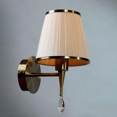 Светильник настенный бра Brizzi Серия 01625 MA 01625W/001 Bronze Creamсовременные бра модерн<br><br><br>S освещ. до, м2: 2<br>Тип лампы: накал-я - энергосбер-я<br>Тип цоколя: E14<br>Цвет арматуры: Бронзовый<br>Количество ламп: 1<br>Диаметр, мм мм: 145<br>Размеры: H270 D145<br>Высота, мм: 270<br>MAX мощность ламп, Вт: 40