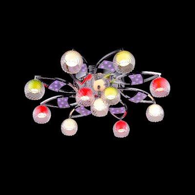 Люстра Eurosvet 0180/11 хром/синий+красный+фиолетовыйПотолочные<br><br><br>Установка на натяжной потолок: Ограничено<br>S освещ. до, м2: 14<br>Крепление: Планка<br>Тип товара: Люстра<br>Скидка, %: 48<br>Тип лампы: галогенная / LED-светодиодная<br>Тип цоколя: G4<br>Количество ламп: 11<br>MAX мощность ламп, Вт: 20<br>Диаметр, мм мм: 650<br>Высота, мм: 150<br>Цвет арматуры: серебристый