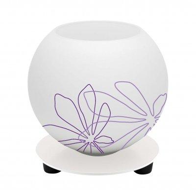 Лампа настольная Brilliant 01947/78 PopВ виде шара<br>Зачастую мы ищем идеальное освещение для своего дома и уделяем этому достаточно много времени. Так, например, если нам нужен светильник с количеством ламп - 1 и цвет плафонов должен быть - белый с фиолетовым рисунком, а материал плафонов только стекло! То нам, как вариант, подойдет модель - лампа настольная Brilliant 01947/78.<br><br>S освещ. до, м2: 2<br>Тип товара: Настольная лампа<br>Тип лампы: накал-я - энергосбер-я<br>Тип цоколя: E14<br>Количество ламп: 1<br>MAX мощность ламп, Вт: 40<br>Диаметр, мм мм: 135<br>Высота, мм: 135<br>Цвет арматуры: белый