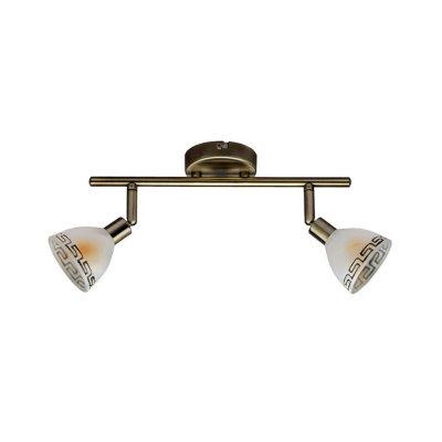 Светильник Brilliant G02113/31 MurciaДвойные<br>Зачастую мы ищем идеальное освещение для своего дома и уделяем этому достаточно много времени. Так, например, если нам нужен светильник с количеством ламп - 2 и цвет плафонов должен быть - белый алебастр с орнаментом, а материал плафонов только стекло! То нам, как вариант, подойдет модель - система спотов Brilliant G02113/31.<br><br>S освещ. до, м2: 5<br>Тип лампы: галогенная / LED-светодиодная<br>Тип цоколя: G9<br>Количество ламп: 2<br>Ширина, мм: 320<br>MAX мощность ламп, Вт: 40<br>Выступ, мм: 185<br>Длина, мм: 320<br>Цвет арматуры: бронзовый