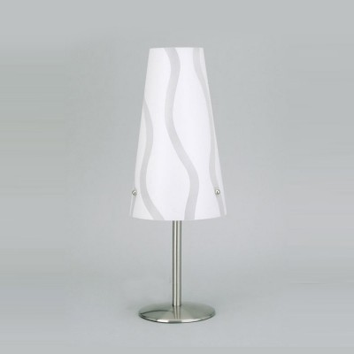 Лампа настольная Brilliant 02747/05 IsiБелые<br>Зачастую мы ищем идеальное освещение для своего дома и уделяем этому достаточно много времени. Так, например, если нам нужен светильник с количеством ламп - 1 и цвет плафонов должен быть - белый с рисунком, а материал плафонов только полимер! То нам, как вариант, подойдет модель - лампа настольная Brilliant 02747/05.<br><br>S освещ. до, м2: 2<br>Тип лампы: накал-я - энергосбер-я<br>Тип цоколя: E14<br>Количество ламп: 1<br>MAX мощность ламп, Вт: 40<br>Диаметр, мм мм: 140<br>Высота, мм: 380<br>Цвет арматуры: серебристый