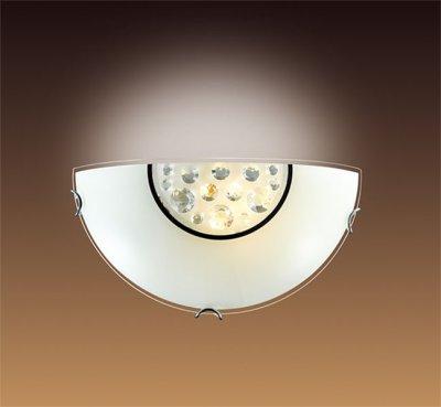Светильник Сонекс 028Накладные<br><br><br>S освещ. до, м2: 6<br>Тип лампы: накаливания / энергосбережения / LED-светодиодная<br>Тип цоколя: E27<br>Количество ламп: 1<br>Ширина, мм: 300<br>MAX мощность ламп, Вт: 100<br>Высота, мм: 150<br>Цвет арматуры: серебристый