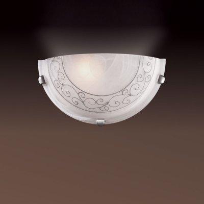 Светильник Сонекс 032 серебро Barocco CromoНакладные<br><br><br>S освещ. до, м2: 6<br>Тип лампы: накаливания / энергосбережения / LED-светодиодная<br>Тип цоколя: E27<br>Количество ламп: 1<br>Ширина, мм: 300<br>MAX мощность ламп, Вт: 100<br>Высота, мм: 150<br>Цвет арматуры: серебристый