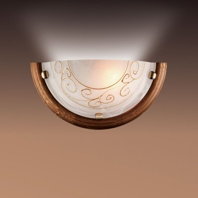 Светильник Сонекс 034 бронза Barocco WoodНакладные<br><br><br>S освещ. до, м2: 6<br>Тип лампы: накаливани / нергосбережени / LED-светодиодна<br>Тип цокол: E27<br>Количество ламп: 1<br>Ширина, мм: 360<br>MAX мощность ламп, Вт: 100<br>Высота, мм: 180<br>Цвет арматуры: бронзовый