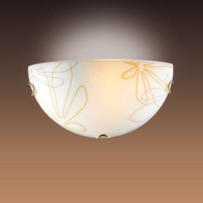 Светильник бра Сонекс 042 золото/декор коричн/янтарн MORTIAНакладные<br><br><br>S освещ. до, м2: 6<br>Тип лампы: накаливания / энергосбережения / LED-светодиодная<br>Тип цоколя: E27<br>Количество ламп: 1<br>Ширина, мм: 300<br>MAX мощность ламп, Вт: 100<br>Цвет арматуры: золотой