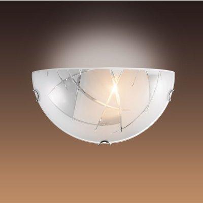 Светильник бра Сонекс 043 хром/белый KAPENAНакладные<br><br><br>S освещ. до, м2: 6<br>Тип лампы: накаливания / энергосбережения / LED-светодиодная<br>Тип цоколя: E27<br>Количество ламп: 1<br>Ширина, мм: 300<br>MAX мощность ламп, Вт: 100<br>Цвет арматуры: серебристый