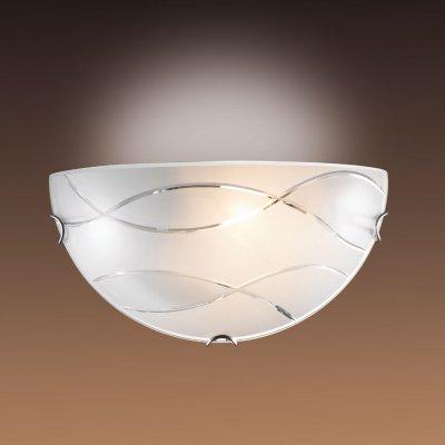 Светильник бра Сонекс 044 хром/белый MONAНакладные<br><br><br>S освещ. до, м2: 6<br>Тип лампы: накаливания / энергосбережения / LED-светодиодная<br>Тип цоколя: E27<br>Количество ламп: 1<br>Ширина, мм: 300<br>MAX мощность ламп, Вт: 100<br>Цвет арматуры: серебристый
