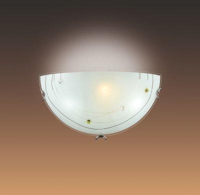 Светильник Сонекс 045Накладные<br><br><br>S освещ. до, м2: 6<br>Тип лампы: накаливания / энергосбережения / LED-светодиодная<br>Тип цоколя: E27<br>Количество ламп: 1<br>Ширина, мм: 300<br>MAX мощность ламп, Вт: 100<br>Цвет арматуры: серебристый