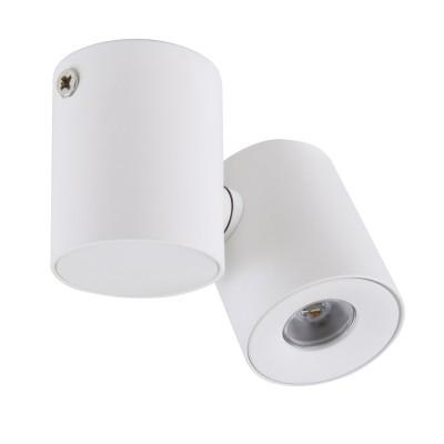 Светильник точечный накладной диодный Lightstar 51136 Puntoодиночные споты<br>Крепление: а30; Внешние габариты: H67 W85 L40; Материал - основание/плафон: металл; Цвет-основание/плафон: белый; Лампа: LED 3 Вт = 30 Вт лампе накаливания 3000K;  IP40; Световой поток: 190LM; Угол рассеивания: 20G;