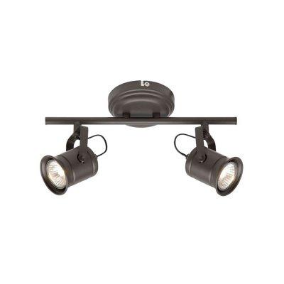 Светильник Brilliant G05713/20 Capдвойные светильники споты<br>Зачастую мы ищем идеальное освещение для своего дома и уделяем этому достаточно много времени. Так, например, если нам нужен светильник с количеством ламп - 2 и цвет плафонов должен быть - шоколадный, а материал плафонов только металл! То нам, как вариант, подойдет модель - система спотов Brilliant G05713/20.<br><br>S освещ. до, м2: 6<br>Тип лампы: галогенная / LED-светодиодная<br>Тип цоколя: GU10<br>Цвет арматуры: коричневый<br>Количество ламп: 2<br>Ширина, мм: 305<br>Выступ, мм: 180<br>Длина, мм: 315<br>Высота, мм: 160<br>MAX мощность ламп, Вт: 50