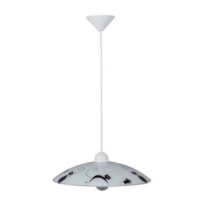 Подвес Brilliant 05970/75 CatОдиночные<br>Зачастую мы ищем идеальное освещение для своего дома и уделяем этому достаточно много времени. Так, например, если нам нужен светильник с количеством ламп - 1 и цвет плафонов должен быть - черно-белый, а материал плафонов только пластик! То нам, как вариант, подойдет модель подвесного светильника Brilliant 05970/75.<br><br>S освещ. до, м2: 4<br>Тип товара: Светильник подвесной<br>Тип лампы: накаливания / энергосбережения / LED-светодиодная<br>Тип цоколя: E27<br>Количество ламп: 1<br>MAX мощность ламп, Вт: 60<br>Диаметр, мм мм: 400<br>Высота, мм: 1080<br>Цвет арматуры: серебристый