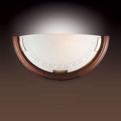 Светильник Сонекс 060 бронза GrecaНакладные<br>*Сонекс-К 060<br><br>S освещ. до, м2: 6<br>Тип лампы: накаливания / энергосбережения / LED-светодиодная<br>Тип цоколя: E27<br>Цвет арматуры: бронзовый<br>Количество ламп: 1<br>Ширина, мм: 360<br>Высота, мм: 180<br>MAX мощность ламп, Вт: 100