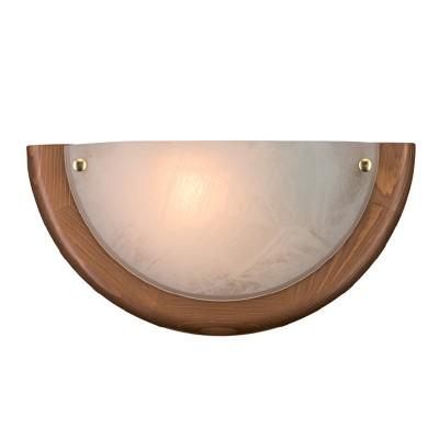 Светильник Сонекс 075 SN15 ALABASTROсовременные бра модерн<br><br><br>Тип лампы: накаливания / энергосбережения / LED-светодиодная<br>Тип цоколя: E27<br>Цвет арматуры: деревянный<br>Количество ламп: 1<br>MAX мощность ламп, Вт: 100