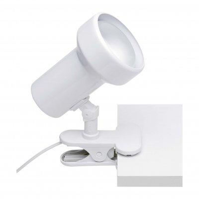 Светильник на прищепке Brilliant 07501T05 CosmosНа прищепке<br>Зачастую мы ищем идеальное освещение для своего дома и уделяем этому достаточно много времени. Так, например, если нам нужен светильник с количеством ламп - 1 и цвет плафонов должен быть - белый, а материал плафонов только металл! То нам, как вариант, подойдет модель - спот Brilliant 07501T05.<br><br>S освещ. до, м2: 4<br>Тип лампы: накал-я - энергосбер-я<br>Тип цоколя: E27<br>Количество ламп: 1<br>MAX мощность ламп, Вт: 60<br>Цвет арматуры: белый
