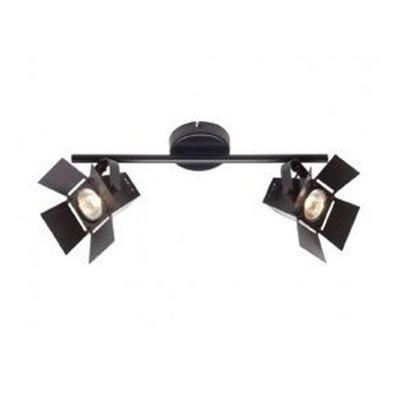 Светильник Brilliant G07813/76 MovieДвойные<br><br><br>S освещ. до, м2: 4<br>Тип товара: Светильник поворотный спот<br>Тип лампы: галогенная / LED-светодиодная<br>Тип цоколя: GU10<br>Количество ламп: 2<br>Ширина, мм: 370<br>MAX мощность ламп, Вт: 35<br>Выступ, мм: 200<br>Длина, мм: 370<br>Цвет арматуры: черный