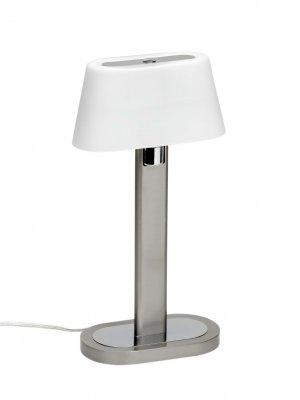 Лампа настольная Brilliant G09648/13 LinaХай тек<br>Зачастую мы ищем идеальное освещение для своего дома и уделяем этому достаточно много времени. Так, например, если нам нужен светильник с количеством ламп - 1 и цвет плафонов должен быть - белый, а материал плафонов только стекло! То нам, как вариант, подойдет модель - лампа настольная Brilliant G09648/13.<br><br>S освещ. до, м2: 4<br>Тип товара: Настольная лампа<br>Тип лампы: галогенная / LED-светодиодная<br>Тип цоколя: G9<br>Количество ламп: 1<br>Ширина, мм: 180<br>MAX мощность ламп, Вт: 60<br>Высота, мм: 340<br>Цвет арматуры: белый