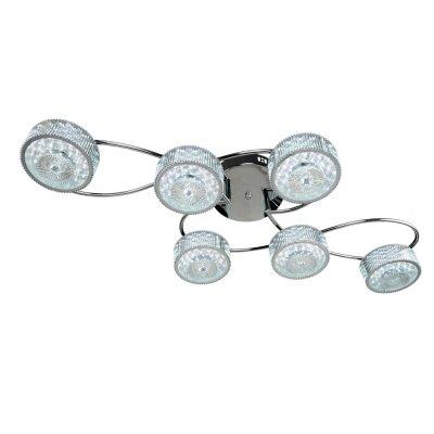 Люстра Геометрия 1-1697-6-CR Y LED МаксисветОжидается<br><br><br>S освещ. до, м2: 19<br>Тип цоколя: LED<br>Цвет арматуры: Хром<br>Количество ламп: 6<br>Ширина, мм: 470<br>Высота полная, мм: 170<br>Длина, мм: 880<br>Оттенок (цвет): Прозрачный