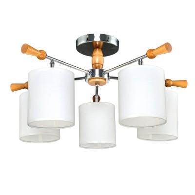 Люстра потолочная 1-3012-5-CR+WA E14 Максисветсовременные потолочные люстры модерн<br><br><br>S освещ. до, м2: 18<br>Тип лампы: Накаливания / энергосбережения / светодиодная<br>Тип цоколя: E14<br>Цвет арматуры: серебристый<br>Количество ламп: 5<br>Диаметр, мм мм: 660<br>Высота, мм: 320<br>Поверхность арматуры: глянцевая<br>Оттенок (цвет): Белый<br>MAX мощность ламп, Вт: 40<br>Общая мощность, Вт: 200