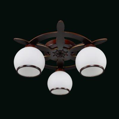 Люстра Еврокаркасы 1-3320-3-BR E27 МаксисветОжидается<br>Следуя модной тенденции брутальности в интерьере, наша коллекция пополнилась серией светильников-штурвалов.<br>Люстры и бра доступны в двух цветовых решениях: беленый дуь и венге.<br>Белые матовые плафоны имеют кайму повторяющий цвет каркаса, особенно выигрышно они смотрятся при включенном свете.<br>Неоспоримым преимуществом перед конкурентами, имеющими аналогичный ассортимент, является доступная цена.<br>Светильники будут востребованы не только для оформления кабинетов, холлов, гостиных, но и детских комнатах, оформленных в морском стиле.<br>Стилевые решения интерьера: морской стиль, контемпорари, фьюжн, экостиль.<br>Тип помещения: холл, детская, спальная.<br><br>S освещ. до, м2: 9<br>Тип цоколя: E27<br>Цвет арматуры: Коричневый<br>Количество ламп: 3<br>Ширина, мм: 480<br>Высота полная, мм: 170<br>Длина, мм: 480<br>Оттенок (цвет): Белый