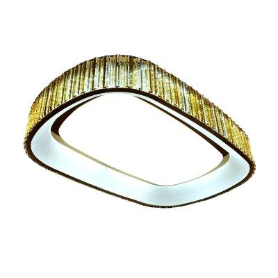 Люстра Hi-Tech 1-4792-FG Y LED МаксисветОжидается<br><br><br>S освещ. до, м2: 40<br>Тип цоколя: LED<br>Цвет арматуры: Золото<br>Количество ламп: 0<br>Ширина, мм: 650<br>Высота полная, мм: 170<br>Длина, мм: 970<br>Оттенок (цвет): Золото