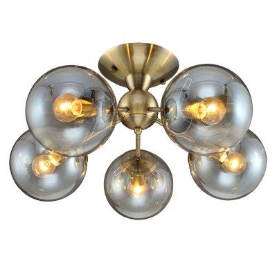 Люстра Модерн 1-4811-5-AB E14 МаксисветОжидается<br><br><br>S освещ. до, м2: 15<br>Тип цоколя: E14<br>Цвет арматуры: Бронза<br>Количество ламп: 5<br>Ширина, мм: 500<br>Высота полная, мм: 230<br>Длина, мм: 500<br>Оттенок (цвет): Прозрачный