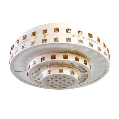 Люстра Hi-Tech 1-5040-WH Y LED МаксисветОжидается<br><br><br>S освещ. до, м2: 21<br>Тип цоколя: LED<br>Цвет арматуры: Белый<br>Количество ламп: 0<br>Ширина, мм: 454<br>Высота полная, мм: 185<br>Длина, мм: 454<br>Оттенок (цвет): Белый