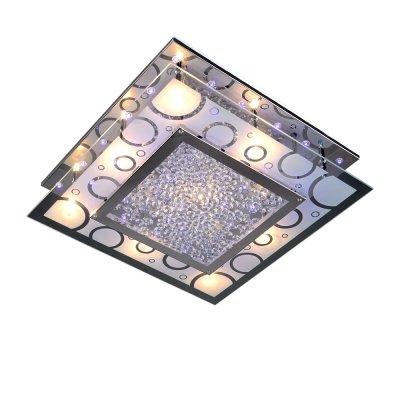 Люстра Панель 1-7306-9-CR-LED Y G9 МаксисветОжидается<br>Эффектное оформление стеклянного поля геометрическими формами напоминает о вернувшемся в моду минимализме 60-х.<br>Хрустальные элементы отражаются в зеркальном основании люстры, создавая дополнительную игру света.<br>Отличное решение для современного интерьера с натяжными потолками.<br><br>S освещ. до, м2: 18<br>Тип цоколя: G9<br>Цвет арматуры: Хром<br>Количество ламп: 9<br>Ширина, мм: 420<br>Высота полная, мм: 95<br>Длина, мм: 420<br>Оттенок (цвет): Разноцветный