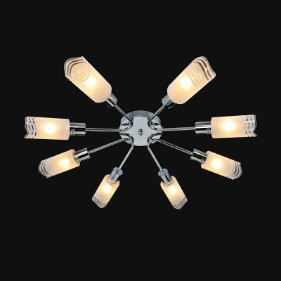Люстра Универсал 1-8557-8-CR E14 МаксисветОжидается<br><br><br>S освещ. до, м2: 24<br>Тип цоколя: E14<br>Цвет арматуры: Хром<br>Количество ламп: 8<br>Ширина, мм: 680<br>Высота полная, мм: 280<br>Длина, мм: 680<br>Оттенок (цвет): Белый