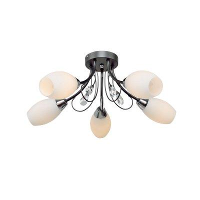 Люстра Универсал 1-8560-5-BK E14 МаксисветОжидается<br>Лаконичная и универсальная серия светильников 8560 идеально впишется, практически в любое жилое помещение. Безусловно, одним из главных преимуществ серии будут являться универсальность дизайна и привлекательная цена.<br>Стилевые решения интерьера: фьюжн.<br>Тип помещения: гостиная, столовая, спальная.<br><br>S освещ. до, м2: 15<br>Тип цоколя: E14<br>Цвет арматуры: Черный<br>Количество ламп: 5<br>Ширина, мм: 580<br>Высота полная, мм: 210<br>Длина, мм: 580<br>Оттенок (цвет): Белый