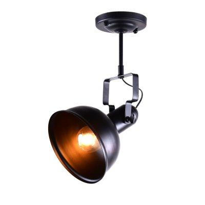Спот Loft 1-8565-1-BK E27 МаксисветОжидается<br><br><br>S освещ. до, м2: 3<br>Тип цоколя: E27<br>Цвет арматуры: Черный<br>Количество ламп: 1<br>Ширина, мм: 230<br>Высота полная, мм: 400<br>Длина, мм: 180<br>Оттенок (цвет): Черный