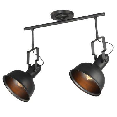 Спот Loft 1-8565-2-BK E27 МаксисветОжидается<br><br><br>S освещ. до, м2: 6<br>Тип цоколя: E27<br>Цвет арматуры: Черный<br>Количество ламп: 2<br>Ширина, мм: 230<br>Высота полная, мм: 440<br>Длина, мм: 540<br>Оттенок (цвет): Черный