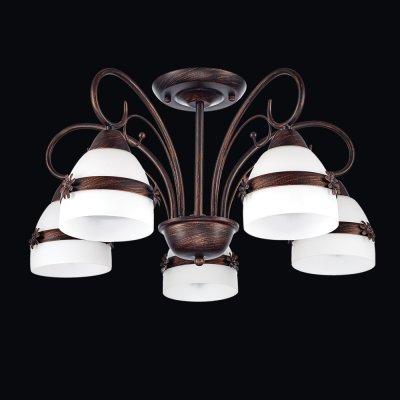 Люстра Универсал 1-8598-5-BR E27 МаксисветОжидается<br><br><br>S освещ. до, м2: 15<br>Тип цоколя: E27<br>Цвет арматуры: Коричневый<br>Количество ламп: 5<br>Ширина, мм: 560<br>Высота полная, мм: 300<br>Длина, мм: 560<br>Оттенок (цвет): Белый