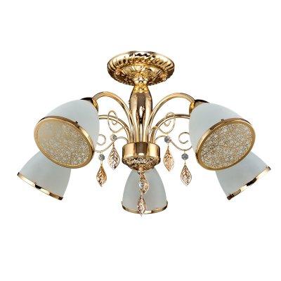 Люстра Универсал 1-8601-5-FG E14 МаксисветОжидается<br><br><br>S освещ. до, м2: 15<br>Тип цоколя: E14<br>Цвет арматуры: Золото<br>Количество ламп: 5<br>Ширина, мм: 560<br>Высота полная, мм: 330<br>Длина, мм: 560<br>Оттенок (цвет): Белый
