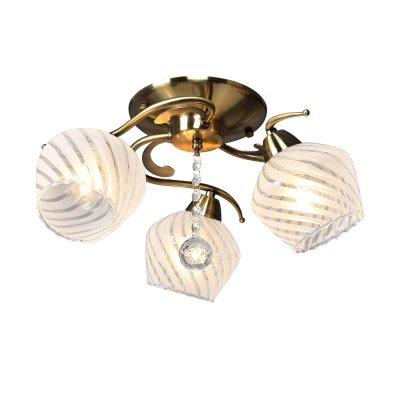 Люстра Универсал 1-8810-3-AB E14 МаксисветОжидается<br>Благодаря своим универсальным формам и размерам, светильники подойдут практически для любого помещения. <br><br>Крупные выдувные бокаловидные плафоны практически полностью закрывают каркас светильника.<br><br>Светильники укомплектованы самым популярным цоколем Е27. При желании в комплектации светильника можно использовать светодиодные лампы.<br><br>Стилевые решения интерьера: Фьюжн (смешанный стиль).<br><br>Тип помещения: кухня, гостиная, спальная, прихожая.<br><br>S освещ. до, м2: 9<br>Тип цоколя: E14<br>Цвет арматуры: Бронза<br>Количество ламп: 3<br>Ширина, мм: 480<br>Высота полная, мм: 220<br>Длина, мм: 480<br>Оттенок (цвет): Белый