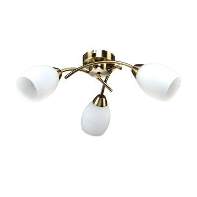 Люстра Универсал 1-8996-3-AB E14 МаксисветОжидается<br><br><br>S освещ. до, м2: 9<br>Тип цоколя: E14<br>Цвет арматуры: Бронза<br>Количество ламп: 3<br>Ширина, мм: 480<br>Высота полная, мм: 175<br>Длина, мм: 480<br>Оттенок (цвет): Белый
