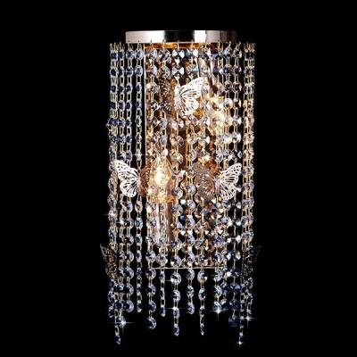 Светильник Евросвет 10015/2 золото/прозрачный хрусталь StrotskisХрустальные<br><br><br>Рекомендуемые колбы ламп: свеча на ветру<br>Цветовая t, К: 2400-2800<br>Тип лампы: накаливания / энергосберегающая / светодиодная<br>Тип цоколя: E14<br>Количество ламп: 2<br>Ширина, мм: 110<br>MAX мощность ламп, Вт: 60<br>Длина, мм: 180<br>Высота, мм: 480<br>Поверхность арматуры: глянцевый<br>Цвет арматуры: золотой<br>Общая мощность, Вт: 120