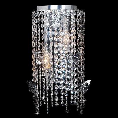 Светильник Евросвет 10015/2 хром/прозрачный хрусталь StrotskisХрустальные<br><br><br>Рекомендуемые колбы ламп: свеча на ветру<br>Цветовая t, К: 2400-2800<br>Тип лампы: накаливания / энергосберегающая / светодиодная<br>Тип цоколя: E14<br>Количество ламп: 2<br>Ширина, мм: 110<br>MAX мощность ламп, Вт: 60<br>Длина, мм: 180<br>Высота, мм: 480<br>Поверхность арматуры: глянцевый<br>Цвет арматуры: серебристый<br>Общая мощность, Вт: 120