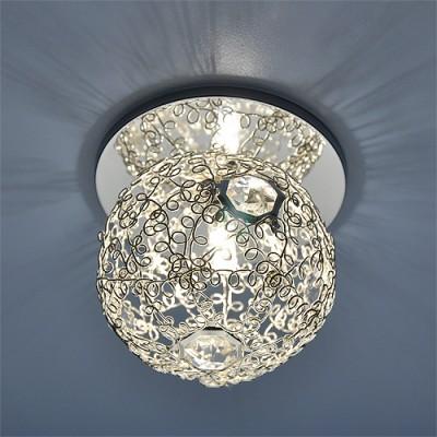 1002 SL (серебро) Электростандарт Светильник точечныйХрустальные<br>Лампа: G9 max 60 Вт  Диаметр: ? 102 мм Высота внутренней части: ? 10 мм Высота внешней части: ? 92 мм Монтажное отверстие: ? 45 мм Гарантия: 2 года<br><br>S освещ. до, м2: до 2<br>Тип лампы: галогенная<br>Тип цоколя: G9<br>Цвет арматуры: Серебристый<br>Количество ламп: 1<br>Диаметр, мм мм: 100<br>Диаметр врезного отверстия, мм: 45<br>Оттенок (цвет): серебро<br>MAX мощность ламп, Вт: 40W