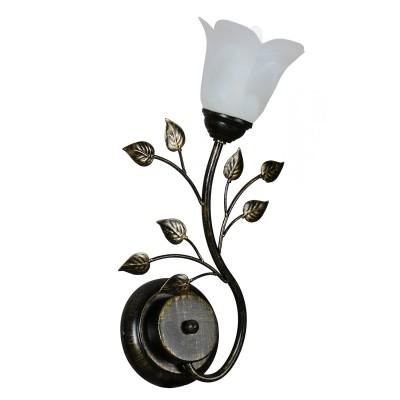 Светильник настенный бра Аврора 10020-1B ЛилияФлористика<br>Важными и отличительными особенностями модели светильника Аврора 10020-1B является металл коричневого цвета, стеклянные плафоны белого матового цвета с габаритными размерами 220*410*70мм. Хотелось бы отметить российскую сборку в г. Самара с отечественными комплектующими.<br><br>Тип лампы: накаливания / энергосбережения / LED-светодиодная<br>Тип цоколя: E14<br>Цвет арматуры: черный<br>Количество ламп: 1<br>Ширина, мм: 220<br>Выступ, мм: 70<br>Размеры: 220*410*70<br>Расстояние от стены, мм: 70<br>Высота, мм: 410<br>Поверхность арматуры: матовый<br>Оттенок (цвет): белый алебастр<br>MAX мощность ламп, Вт: 60