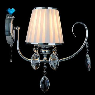Светильник Евросвет 10021/1 хром/прозрачный хрусталь StrotskisКлассические<br><br><br>Тип лампы: Накаливания / энергосбережения / светодиодная<br>Тип цоколя: E14<br>Количество ламп: 1<br>Ширина, мм: 145<br>MAX мощность ламп, Вт: 40<br>Длина, мм: 285<br>Высота, мм: 355<br>Цвет арматуры: серебристый