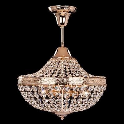Светильник Евросвет 10023/6 золото/прозрачный хрусталь StrotskisПотолочные<br><br><br>Установка на натяжной потолок: Да<br>S освещ. до, м2: 18<br>Крепление: Планка<br>Тип лампы: Накаливания / энергосбережения / светодиодная<br>Тип цоколя: E14<br>Количество ламп: 6<br>MAX мощность ламп, Вт: 60<br>Диаметр, мм мм: 420<br>Высота, мм: 380<br>Цвет арматуры: золотой