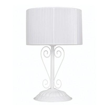 Аврора Ажур 10025-1N настольная лампаСовременные<br>Важными и отличительными особенностями модели светильника Аврора 10025-1N является металл белого цвета, белая  органза с габаритными размерами 260*380мм. Хотелось бы отметить российскую сборку в г. Самара с отечественными комплектующими.<br><br>Тип цоколя: Е14<br>Количество ламп: 1<br>MAX мощность ламп, Вт: 60<br>Диаметр, мм мм: 260<br>Размеры: 260*380<br>Высота, мм: 380