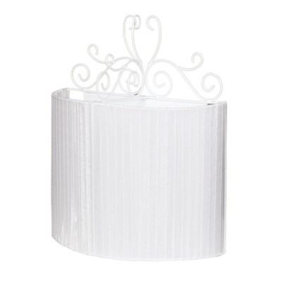 Аврора Ажур 10025-2B Светильник настенный браСовременные<br>Важными и отличительными особенностями модели светильника Аврора 10025-2B является металл белого цвета, белая  органза с габаритными размерами 250*310*140мм. Хотелось бы отметить российскую сборку в г. Самара с отечественными комплектующими.<br><br>Тип цоколя: E14<br>Количество ламп: 2<br>Ширина, мм: 250<br>Размеры: 250*310*140<br>Расстояние от стены, мм: 140<br>Высота, мм: 310<br>MAX мощность ламп, Вт: 60