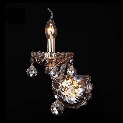Евросвет 10052/1 золото/тонированный хрусталь StrotskisХрустальные<br><br><br>Тип лампы: Накаливания / энергосбережения / светодиодная<br>Тип цоколя: E14<br>Количество ламп: 1<br>Ширина, мм: 120<br>MAX мощность ламп, Вт: 60<br>Расстояние от стены, мм: 230<br>Высота, мм: 320<br>Цвет арматуры: золотой