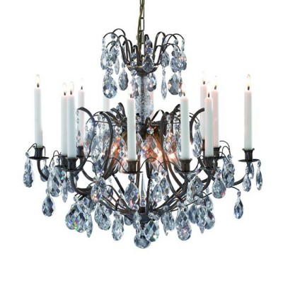 Светильник Markslojd 100558Подвесные<br><br><br>Тип лампы: Накаливания / энергосбережения / светодиодная<br>Тип цоколя: E14<br>Количество ламп: 6<br>MAX мощность ламп, Вт: 40<br>Диаметр, мм мм: 640<br>Высота, мм: 2130<br>Цвет арматуры: бронзовый