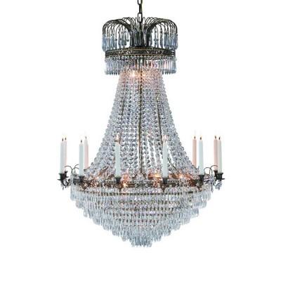 Светильник Markslojd 100667Подвесные<br><br><br>Тип лампы: Накаливания / энергосбережения / светодиодная<br>Тип цоколя: E14<br>Количество ламп: 15<br>MAX мощность ламп, Вт: 40<br>Диаметр, мм мм: 920<br>Высота, мм: 2750<br>Цвет арматуры: бронзовый