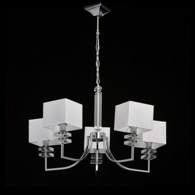Mw light Прато 101010305 ЛюстраПодвесные<br><br><br>Установка на натяжной потолок: Да<br>S освещ. до, м2: 10<br>Тип лампы: Накаливания / энергосбережения / светодиодная<br>Тип цоколя: E14<br>Цвет арматуры: Серебристый хром<br>Количество ламп: 5<br>Диаметр, мм мм: 700<br>Высота, мм: 580 - 870<br>Оттенок (цвет): белый<br>MAX мощность ламп, Вт: 40